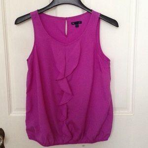 GAP Outlet sleeveless blouse, purple ruffle, sizeM